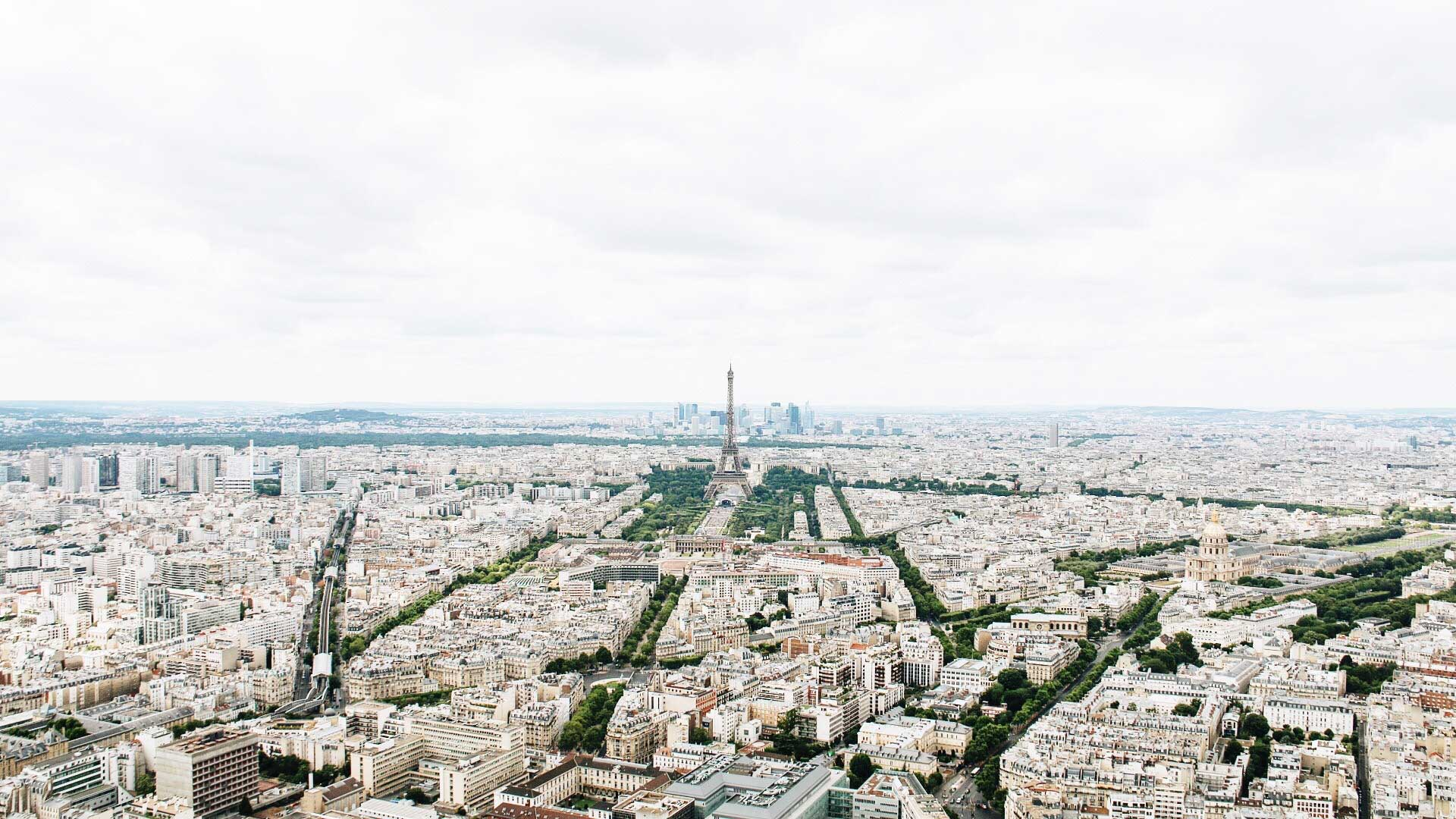 Vue Aérienne Paris Tour Eiffel Linkstone